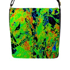 Bow Canopy Height Satelite Map Flap Messenger Bag (l)  by Alisyart