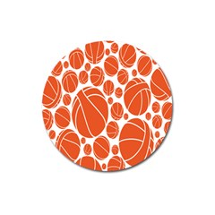 Basketball Ball Orange Sport Magnet 3  (round) by Alisyart