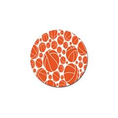 Basketball Ball Orange Sport Golf Ball Marker (10 Pack) by Alisyart