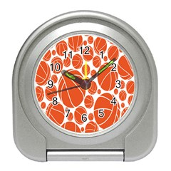 Basketball Ball Orange Sport Travel Alarm Clocks by Alisyart