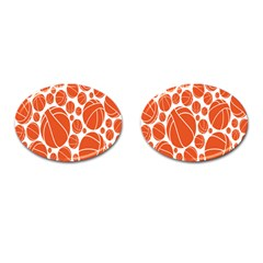 Basketball Ball Orange Sport Cufflinks (oval) by Alisyart