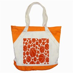 Basketball Ball Orange Sport Accent Tote Bag by Alisyart