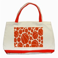 Basketball Ball Orange Sport Classic Tote Bag (red) by Alisyart