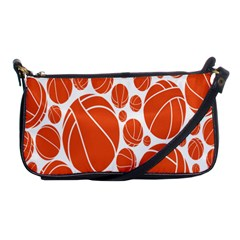 Basketball Ball Orange Sport Shoulder Clutch Bags by Alisyart
