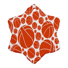 Basketball Ball Orange Sport Ornament (snowflake) by Alisyart