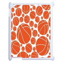 Basketball Ball Orange Sport Apple Ipad 2 Case (white) by Alisyart