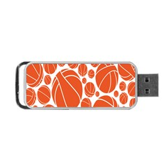 Basketball Ball Orange Sport Portable Usb Flash (one Side) by Alisyart