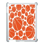 Basketball Ball Orange Sport Apple iPad 3/4 Case (White) Front