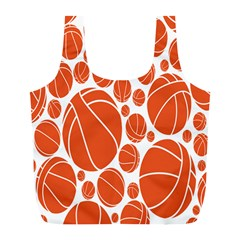 Basketball Ball Orange Sport Full Print Recycle Bags (l)  by Alisyart