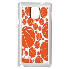Basketball Ball Orange Sport Samsung Galaxy Note 4 Case (white) by Alisyart