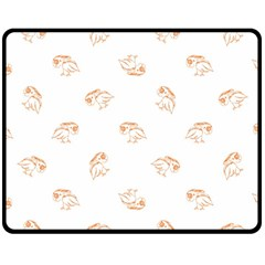 Birds Sketch Pattern Fleece Blanket (medium)  by dflcprints