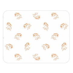Birds Sketch Pattern Double Sided Flano Blanket (large)  by dflcprints