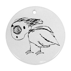 Helpless Bird Sketch Up Drawing Ornament (round) by dflcprints