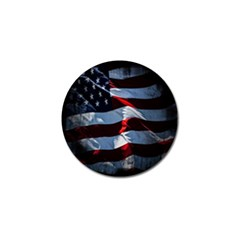 Grunge American Flag Background Golf Ball Marker by Simbadda