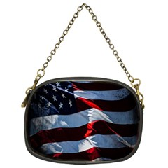 Grunge American Flag Background Chain Purses (one Side)  by Simbadda