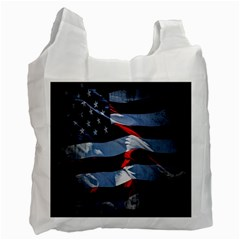 Grunge American Flag Background Recycle Bag (one Side) by Simbadda