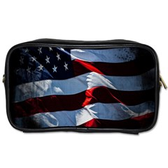 Grunge American Flag Background Toiletries Bags 2 Side by Simbadda