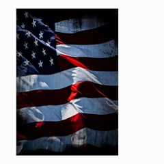 Grunge American Flag Background Small Garden Flag (two Sides) by Simbadda