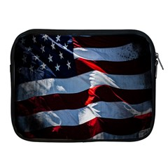 Grunge American Flag Background Apple Ipad 2/3/4 Zipper Cases by Simbadda