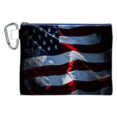 Grunge American Flag Background Canvas Cosmetic Bag (xxl) by Simbadda