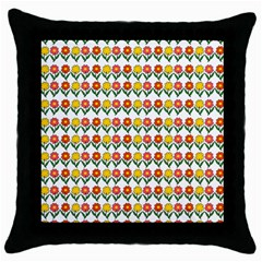 Flowers Throw Pillow Case (black) by Valentinaart
