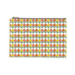 Flowers Cosmetic Bag (large)  by Valentinaart