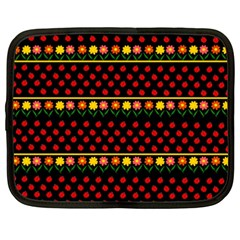 Ladybugs And Flowers Netbook Case (xxl)  by Valentinaart