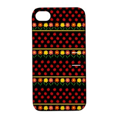 Ladybugs And Flowers Apple Iphone 4/4s Hardshell Case With Stand by Valentinaart