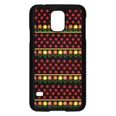 Ladybugs And Flowers Samsung Galaxy S5 Case (black) by Valentinaart