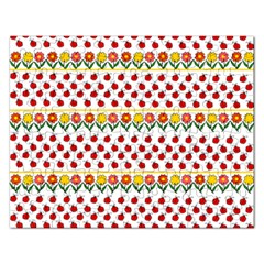 Ladybugs And Flowers Rectangular Jigsaw Puzzl by Valentinaart