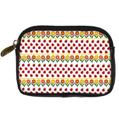 Ladybugs And Flowers Digital Camera Cases by Valentinaart