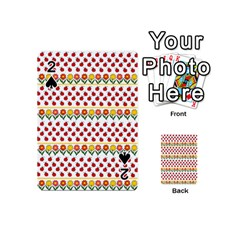 Ladybugs And Flowers Playing Cards 54 (mini)  by Valentinaart