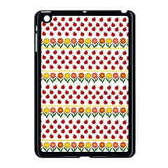 Ladybugs And Flowers Apple Ipad Mini Case (black) by Valentinaart