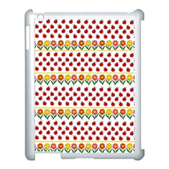 Ladybugs And Flowers Apple Ipad 3/4 Case (white) by Valentinaart