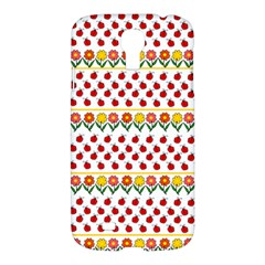 Ladybugs And Flowers Samsung Galaxy S4 I9500/i9505 Hardshell Case by Valentinaart