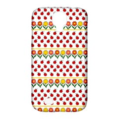 Ladybugs And Flowers Samsung Galaxy S4 Classic Hardshell Case (pc+silicone) by Valentinaart