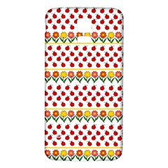 Ladybugs And Flowers Samsung Galaxy S5 Back Case (white) by Valentinaart