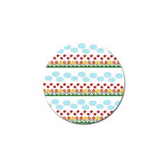 Ladybugs And Flowers Golf Ball Marker (4 Pack) by Valentinaart