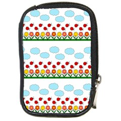 Ladybugs And Flowers Compact Camera Cases by Valentinaart