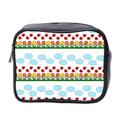 Ladybugs And Flowers Mini Toiletries Bag 2 Side by Valentinaart