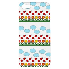 Ladybugs And Flowers Apple Iphone 5 Hardshell Case by Valentinaart