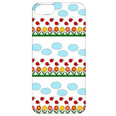 Ladybugs And Flowers Apple Iphone 5 Classic Hardshell Case by Valentinaart