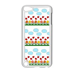 Ladybugs And Flowers Apple Ipod Touch 5 Case (white) by Valentinaart