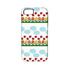 Ladybugs And Flowers Apple Iphone 5 Classic Hardshell Case (pc+silicone) by Valentinaart