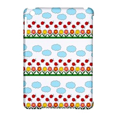 Ladybugs And Flowers Apple Ipad Mini Hardshell Case (compatible With Smart Cover)