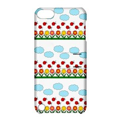 Ladybugs And Flowers Apple Ipod Touch 5 Hardshell Case With Stand by Valentinaart