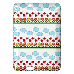 Ladybugs And Flowers Kindle Fire Hdx Hardshell Case by Valentinaart