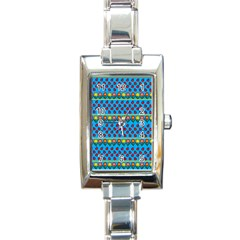 Ladybugs And Flowers Rectangle Italian Charm Watch by Valentinaart