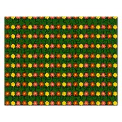 Flowers Rectangular Jigsaw Puzzl by Valentinaart