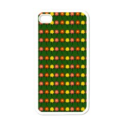 Flowers Apple Iphone 4 Case (white) by Valentinaart